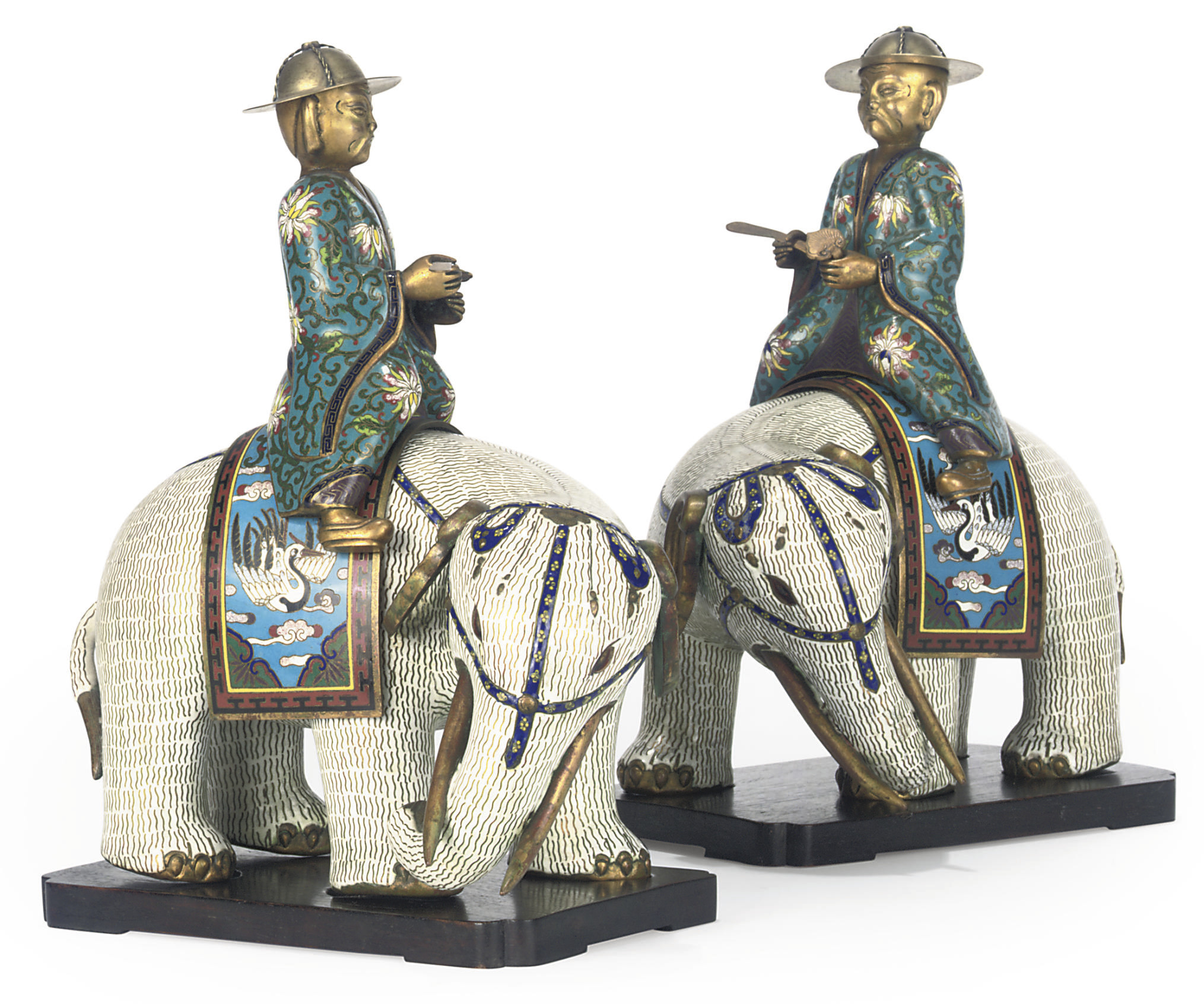 A PAIR OF CHINESE CLOISONNÉ EL