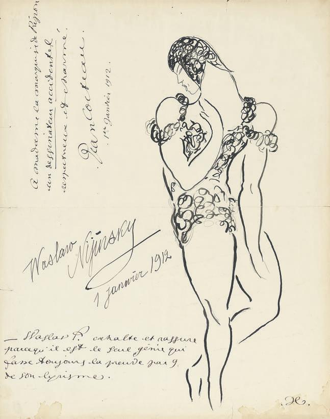 Portrait de Nijinski dans le Spectre de la Rose