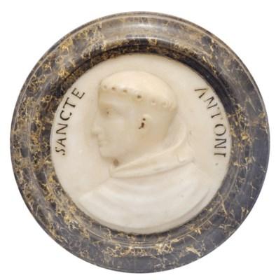 An Italian white marble portra