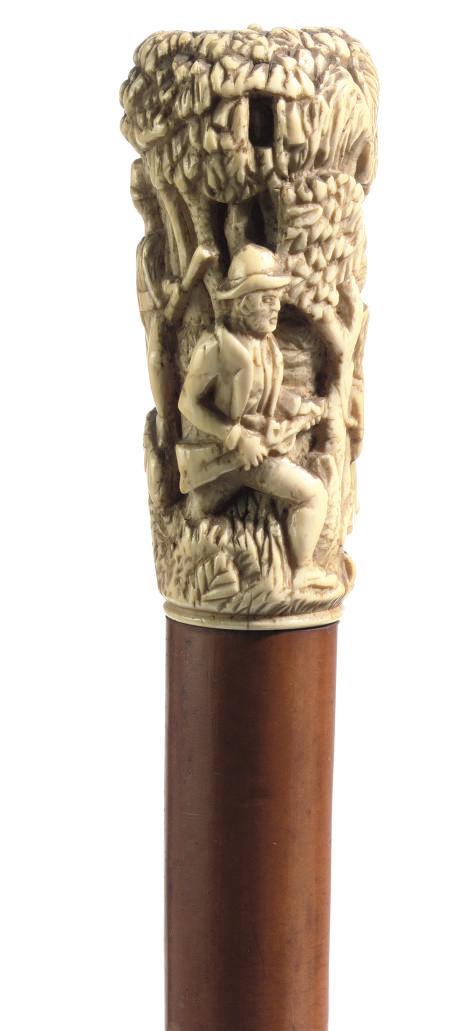 An Austrian/German ivory-handl