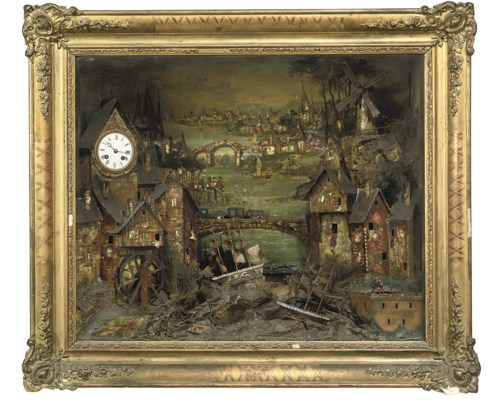 An automaton picture clock