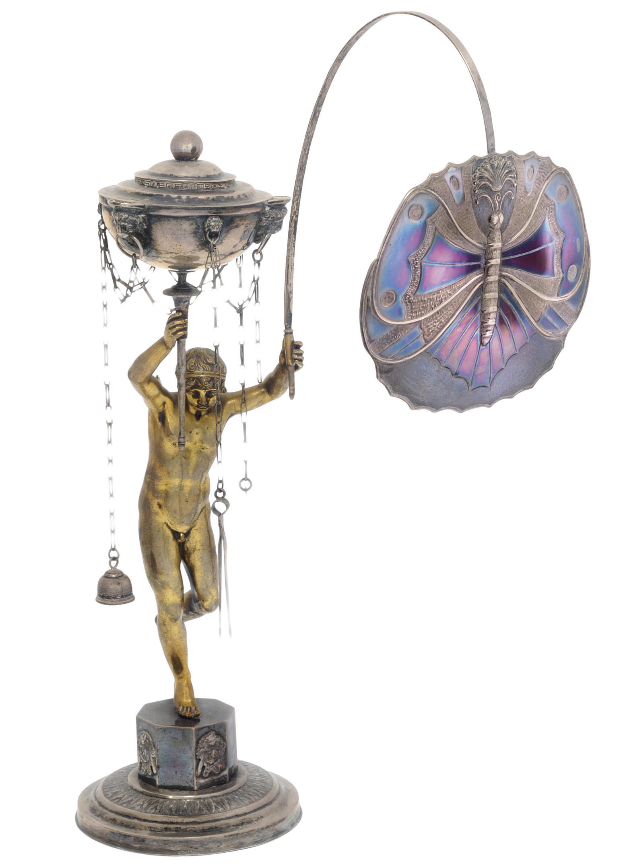 An Italian silver-mounted bron