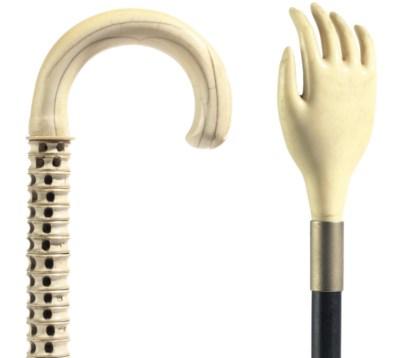 A fish vertebra walking stick