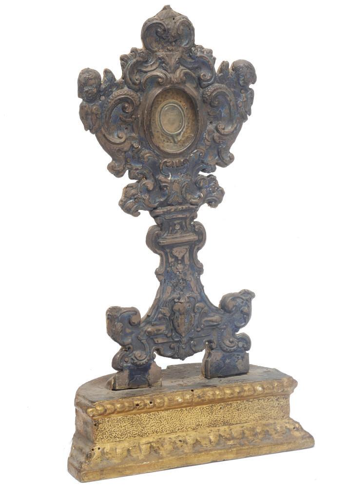 An Italian silver reliquary