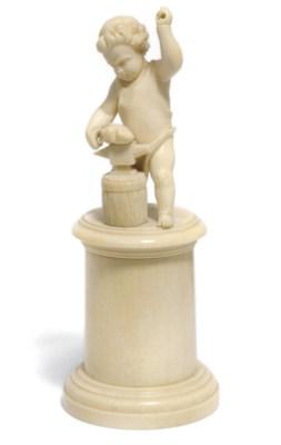 A North European ivory figure