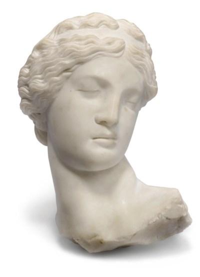 An Italian white marble head o