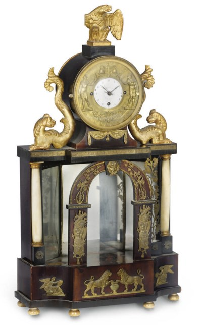 A Vienesse ormolu and marble-m