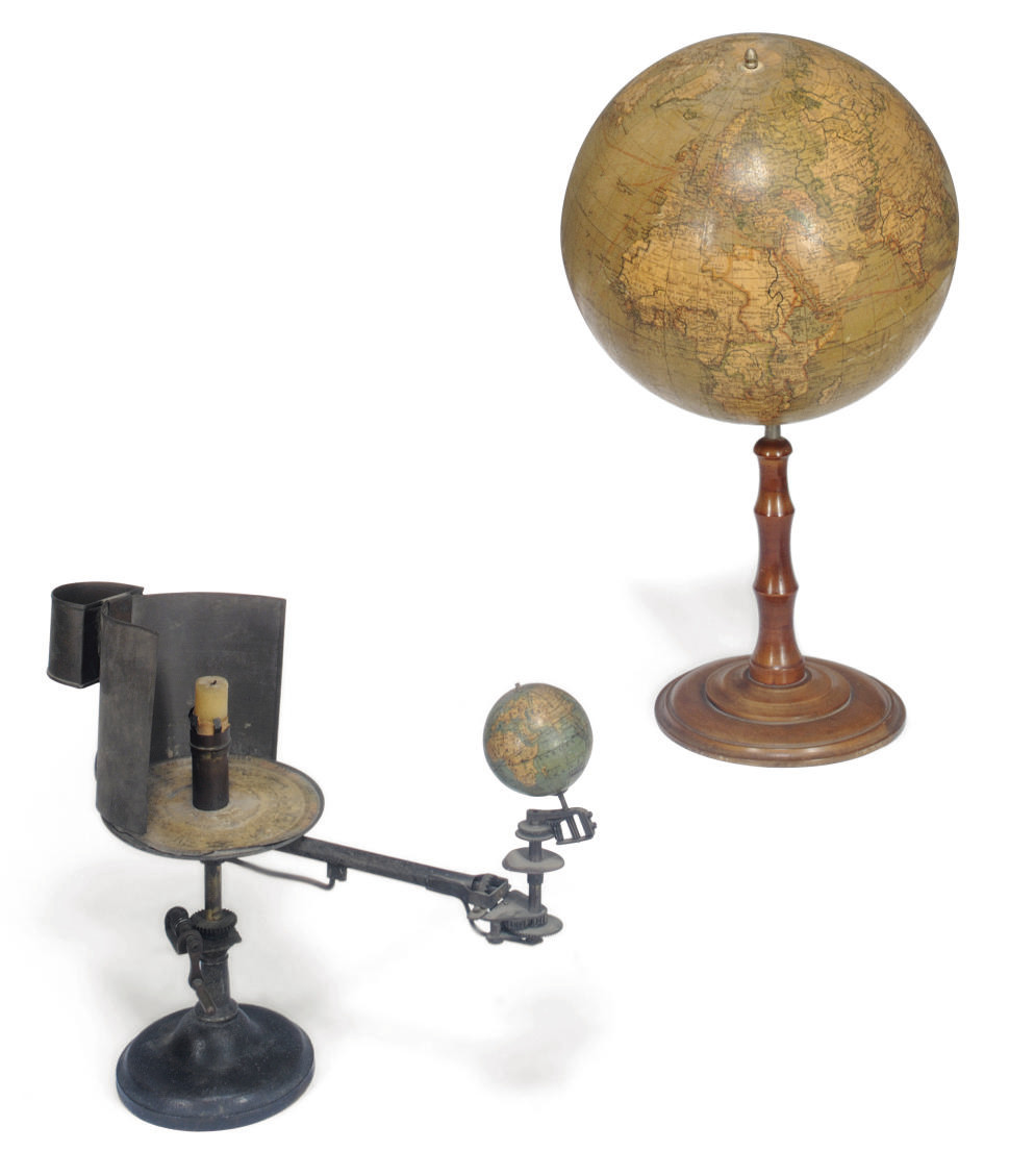 A German 13 inch table globe