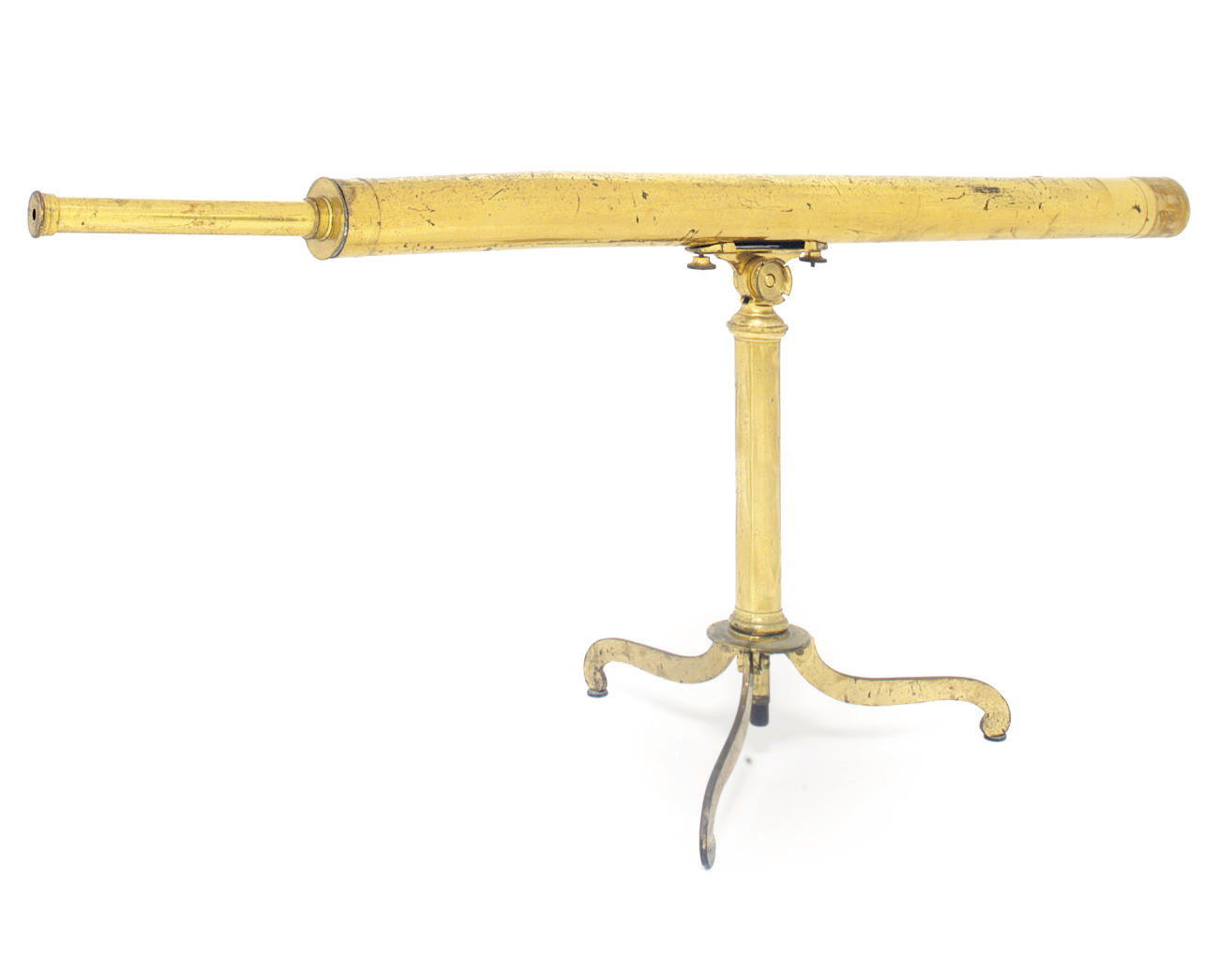 A lacquered brass telescope
