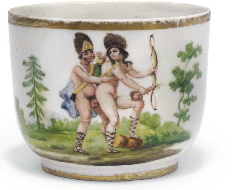 A Continental porcelain bowl