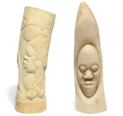 A French African carved ivory