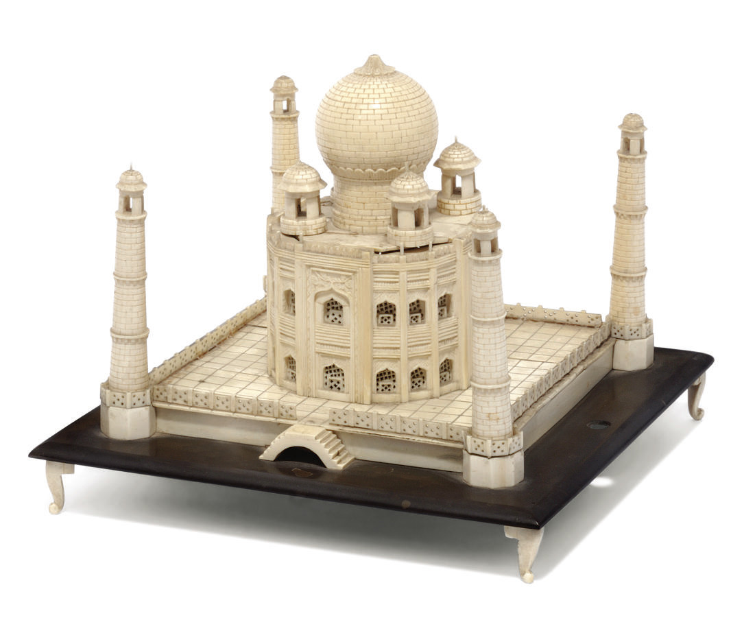 An Indian ivory model of the T