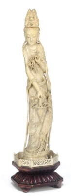 A Chinese carved ivory model o