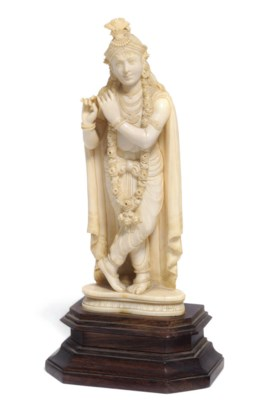 An Indian ivory figure of an i