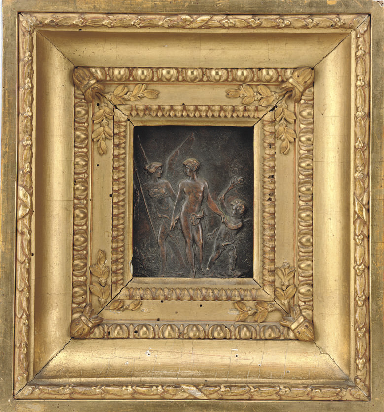An Italian bronze relief plaqu