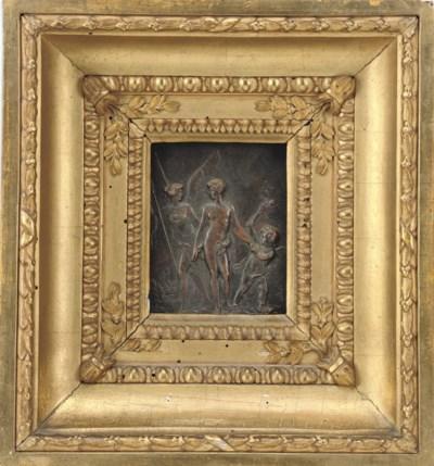An Italian bronze relief plaqu