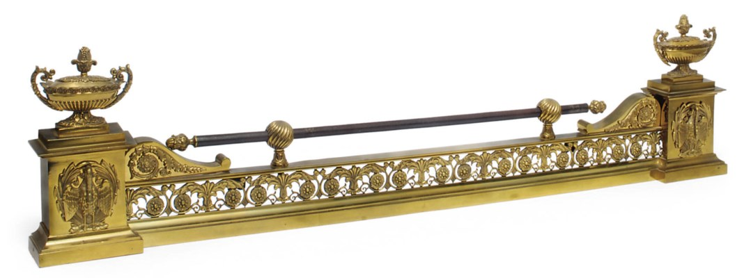 A French gilt bronze fender