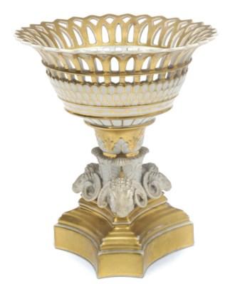 A Belgian porcelain gilt-groun