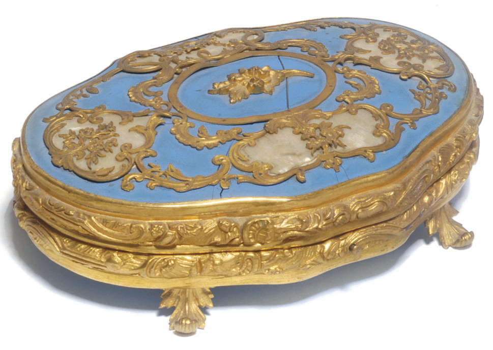 A French gilt-metal and mother