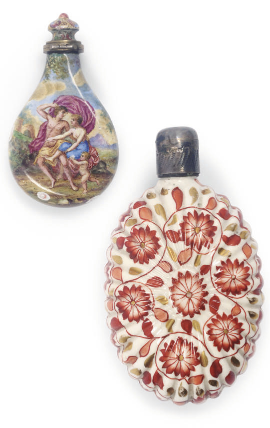 A Vienesse enamel scent bottle