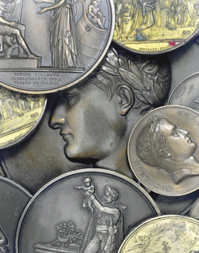 A collection of ten bronze med