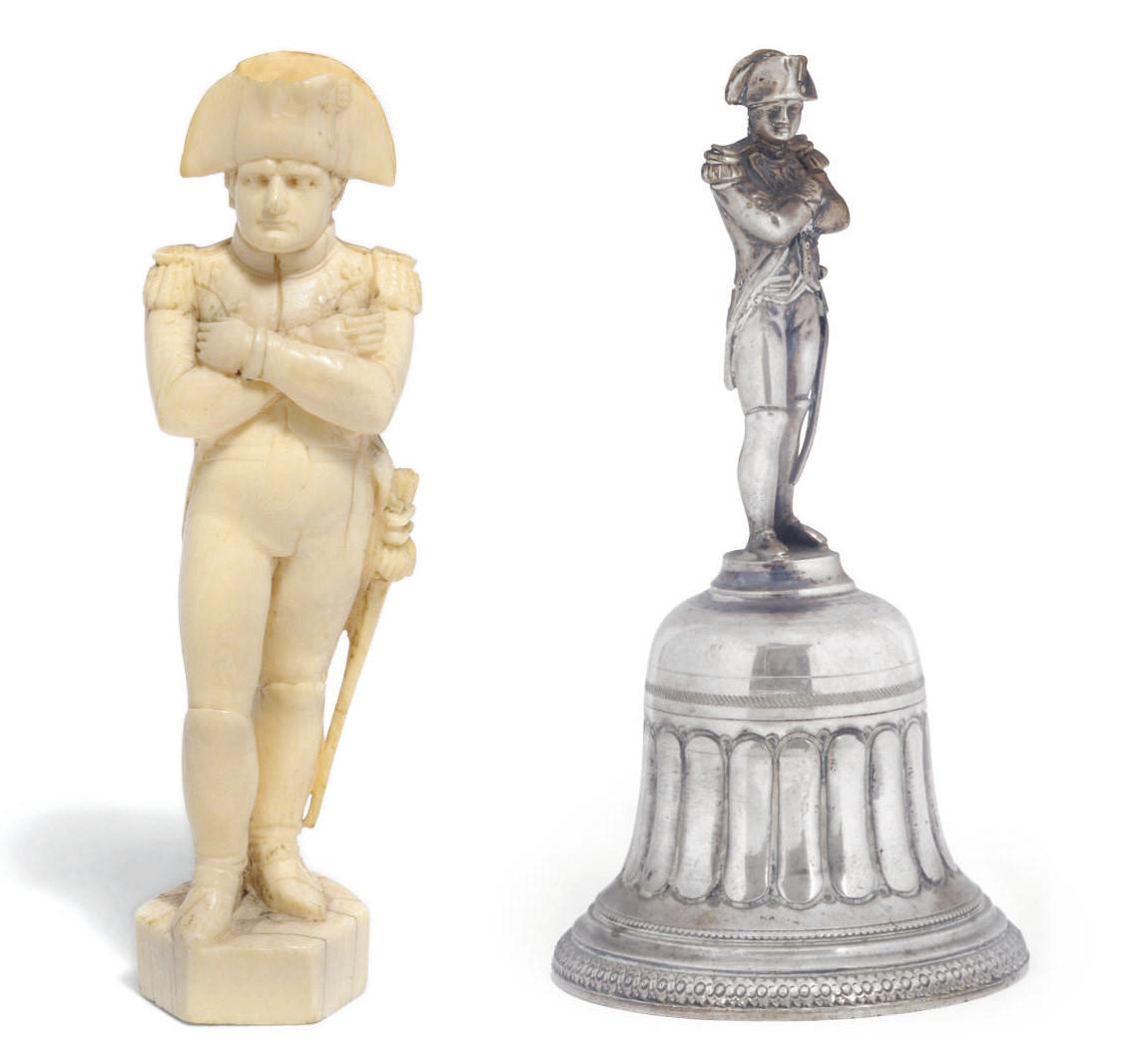 An ivory figure of Napoleon