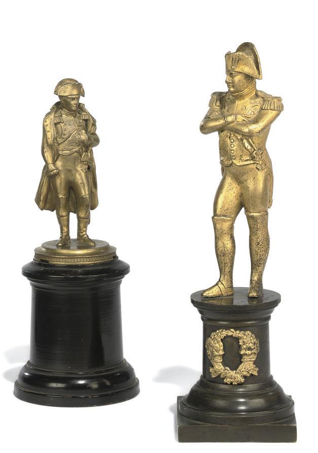 An ormolu figure of Napoleon