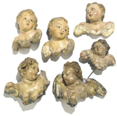 A group of six Neapolitan crec