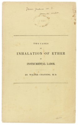 CHANNING, Walter (1786-1876).