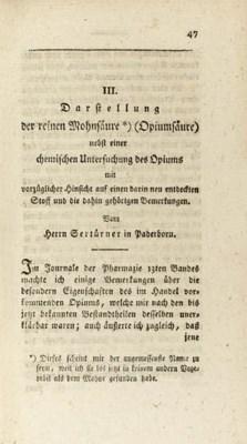 SERTÜRNER, Friedrich Wilhelm A