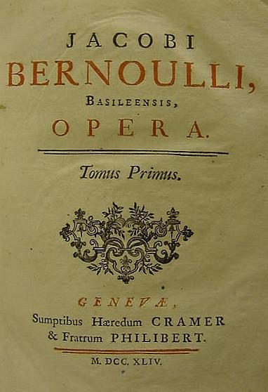 BERNOULLI, Jakob (1654-1705).