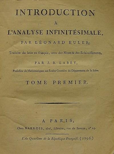 EULER, Léonhard (1707-1783). I