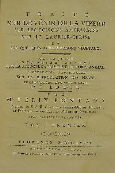 FONTANA, Felice (1730-1805). T
