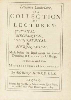 HOOKE, Robert (1635-1702). Lec