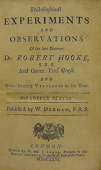 HOOKE, Robert (1635-1702). Phi
