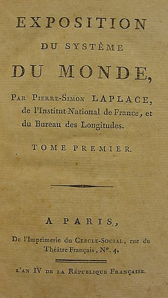 LAPLACE, Pierre Simon, marquis