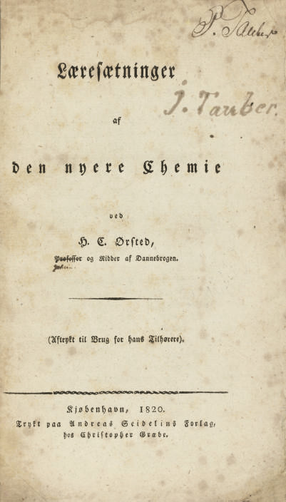 OERSTED, Hans Christian (1777-