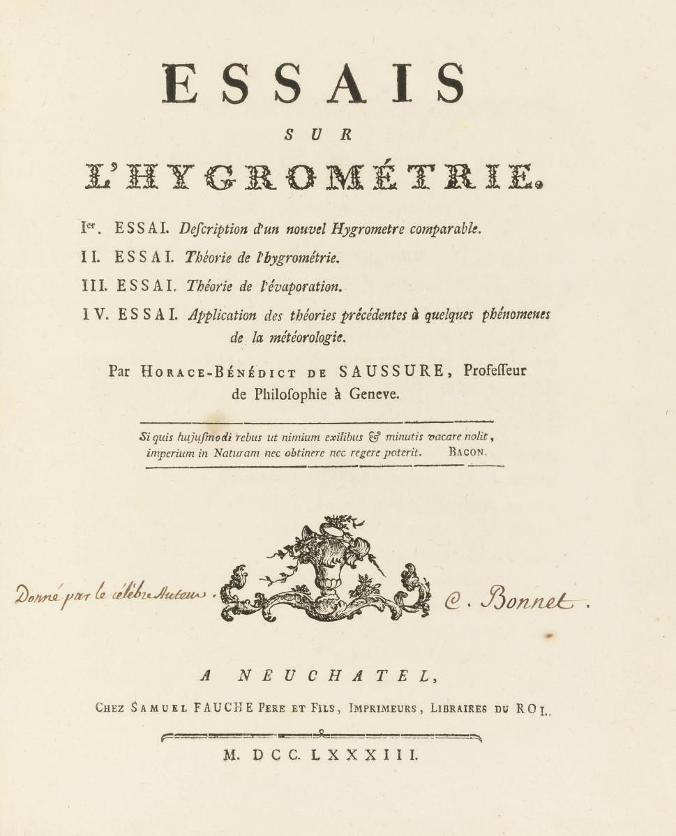 SAUSSURE, Horace Bénédict de (