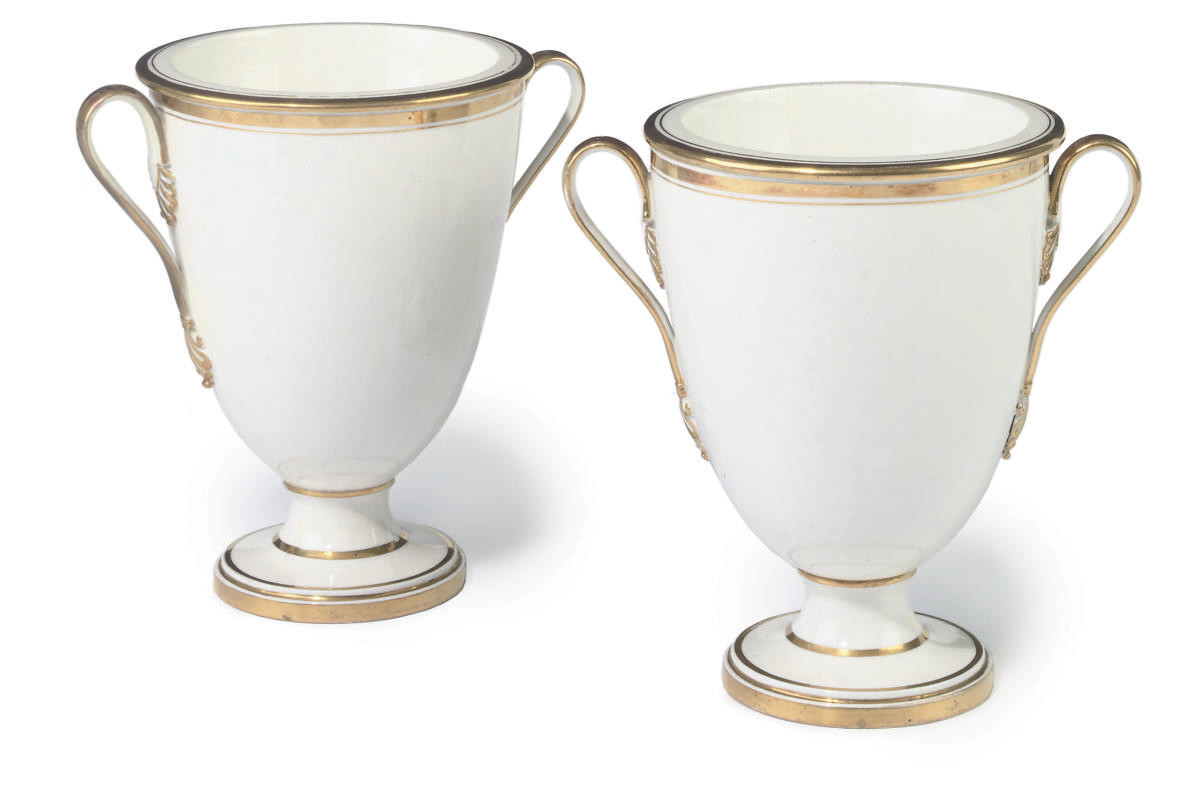 A PAIR OF FRENCH PORCELAIN TWO