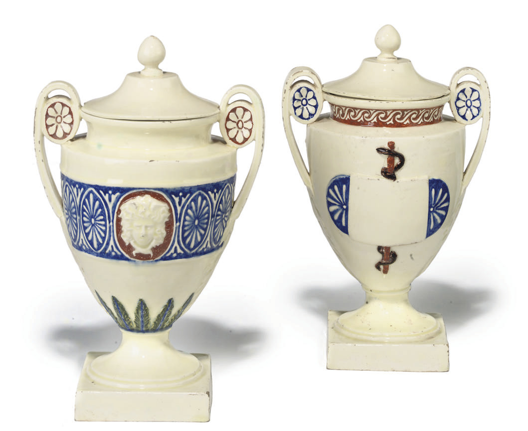 A PAIR OF ITALIAN MAIOLICA TWO