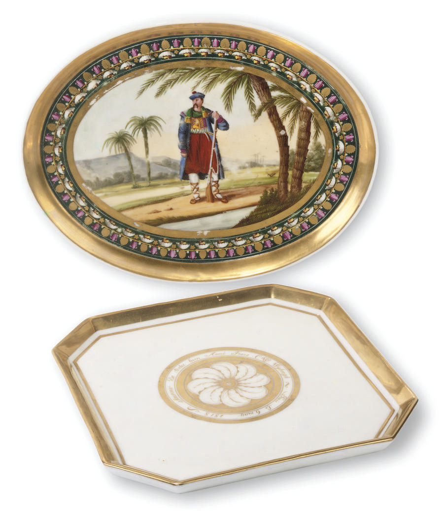 TWO PARIS PORCELAIN TRAYS