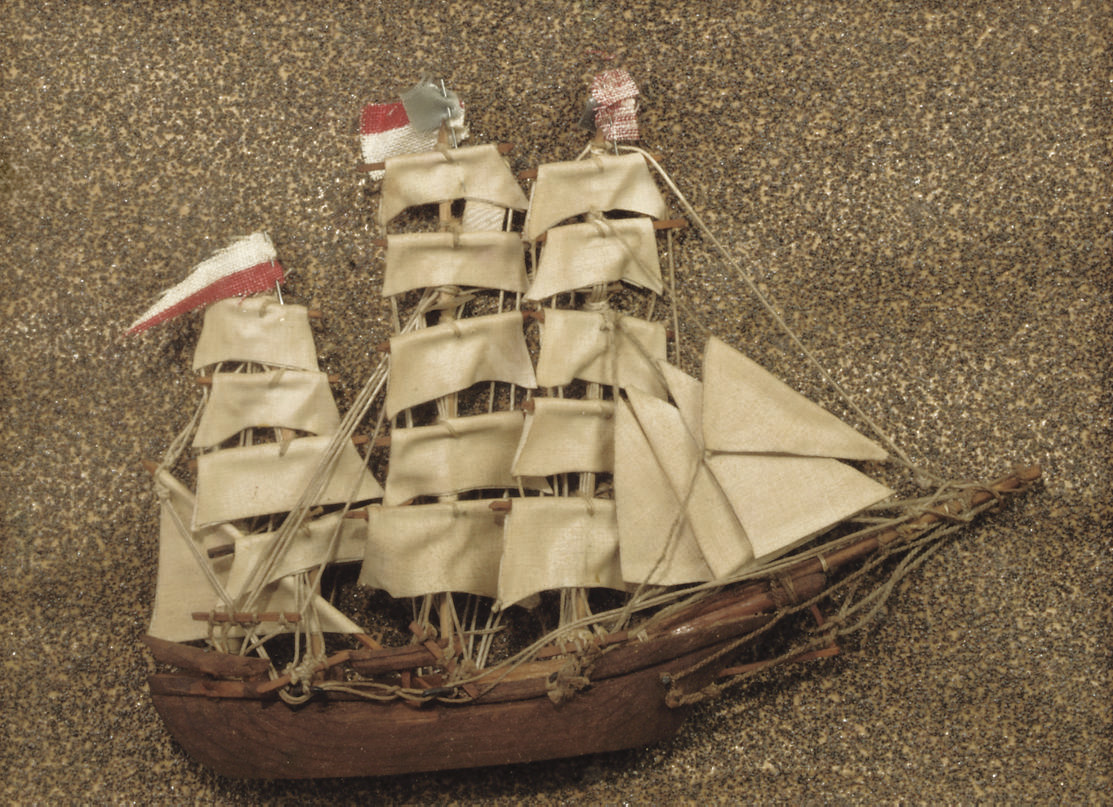 A MODEL OF A MASTED VESSEL