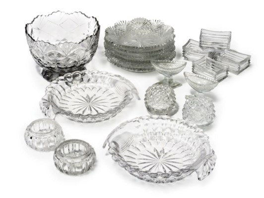 A GROUP OF CUT GLASS