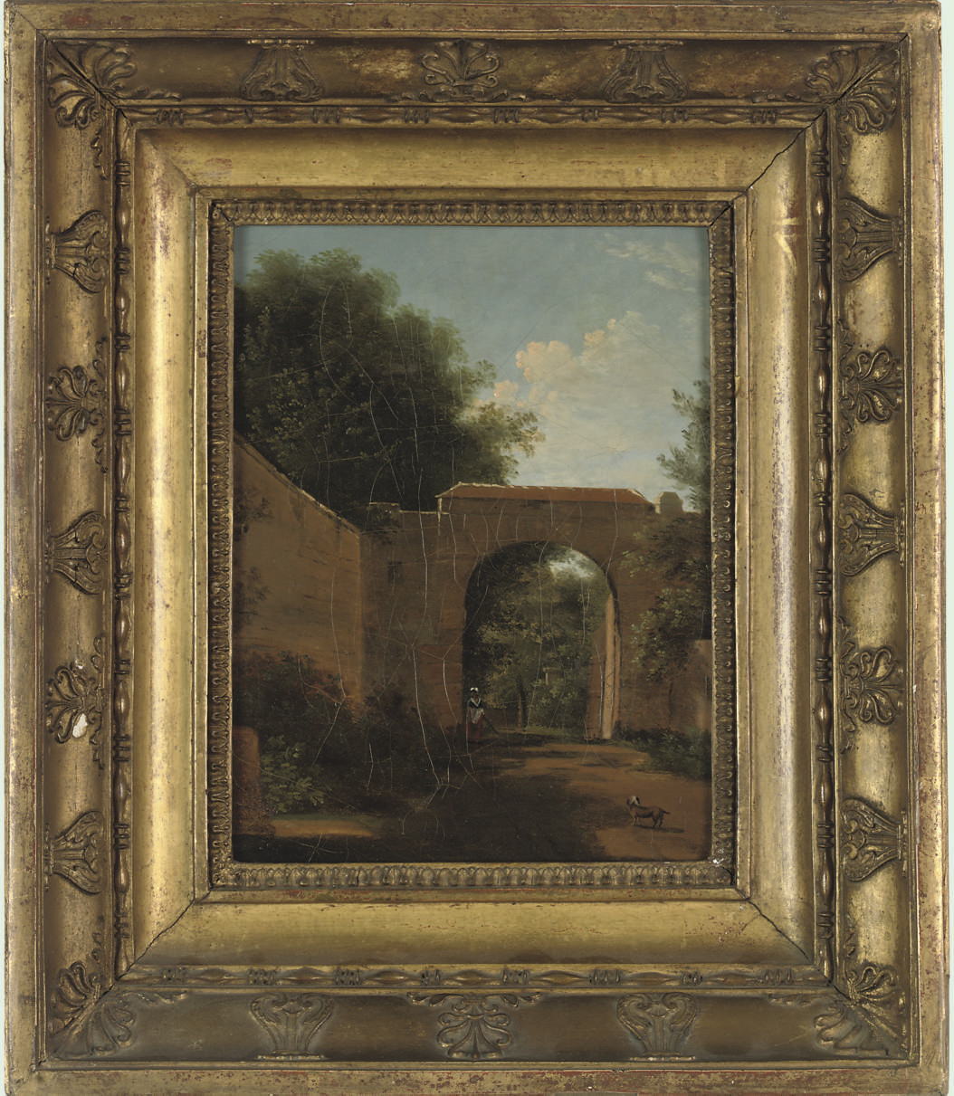 A French arch, thought to be the entrance to St. Cloud, Paris