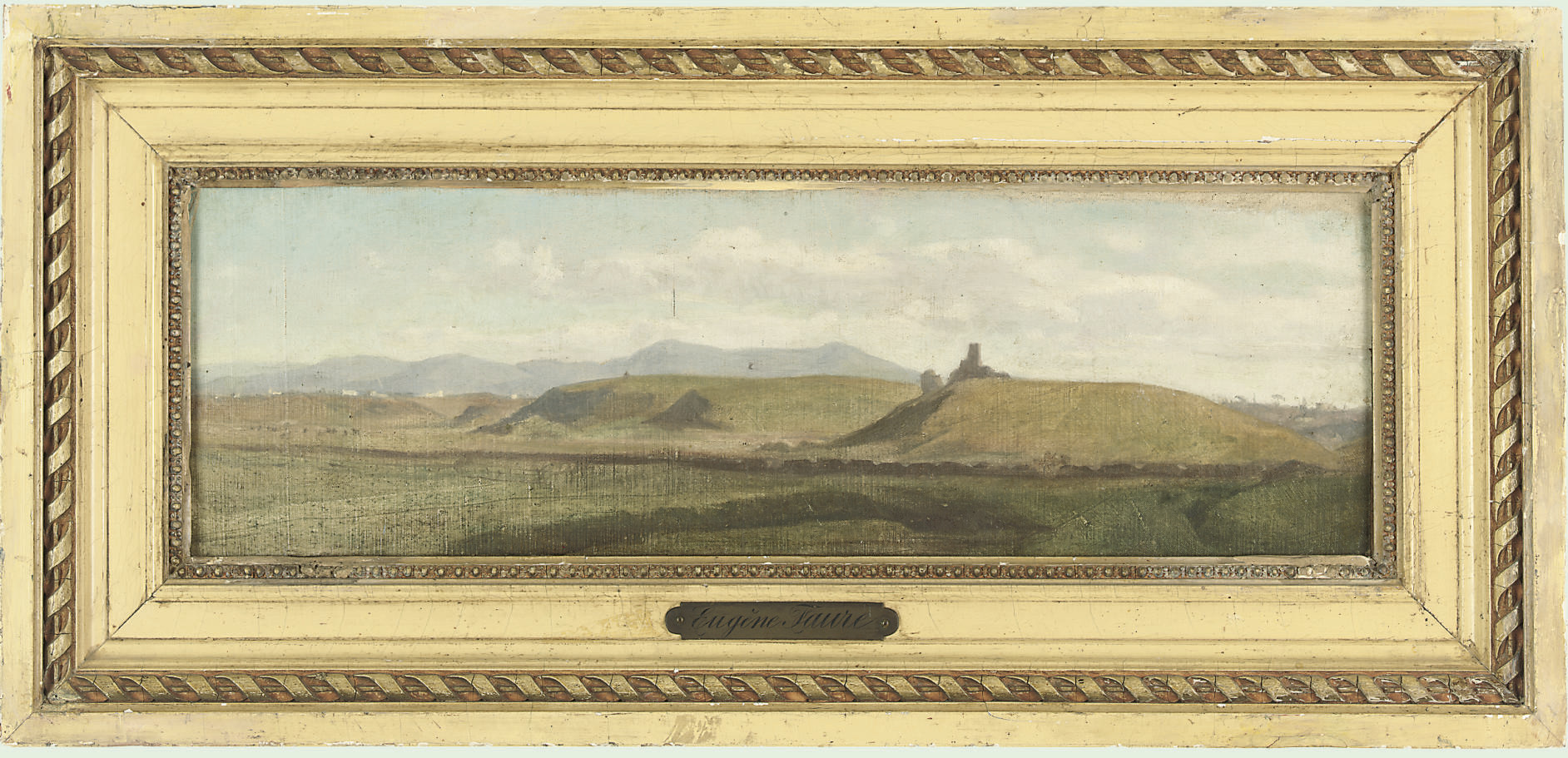 View across the hills, possibly of La Tour Sans Venin in the region of Seyssinet-Pariset, Grenoble