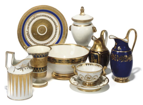 A GROUP OF FRENCH PORCELAIN TE