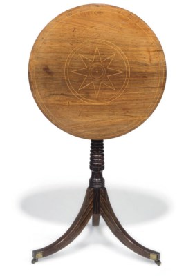 A REGENCY ROSEWOOD AND GRAINED