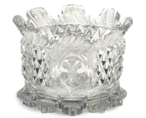 A CUT-GLASS WINEGLASS COOLER F