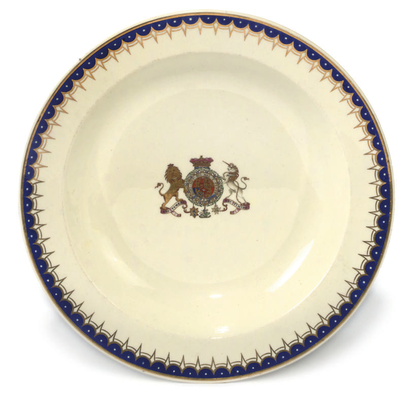 A WEDGWOOD CREAMWARE ARMORIAL