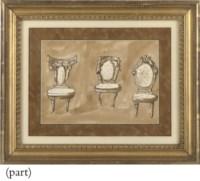 Six studies of neo-classical furniture